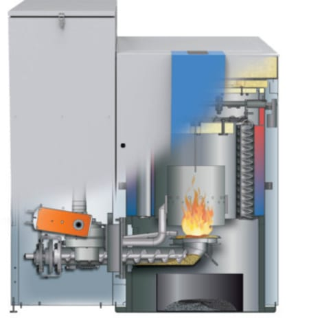 MESys AutoPellet Wood Pellet Boiler Diagram