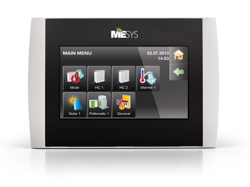 Maine Energy Systems autopellet touch screen